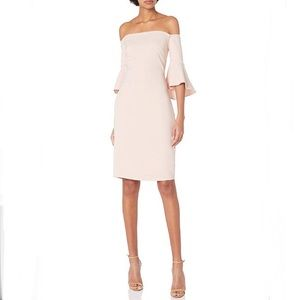 NWT Laundry Blush Off the Shoulder Cocktail Dress